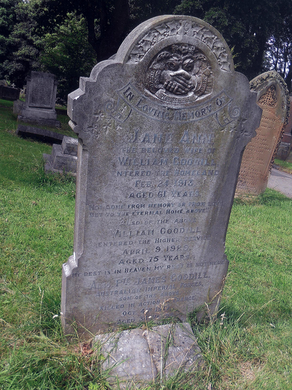 GOODILL, James – Friends of Dean Road & Manor Road Cemetery